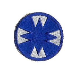 WO2 US Army 48th Armored Division patch Ghost patch - 6,5 cm diameter - origineel