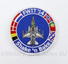 Klu Luchtmacht embleem FWIT 14 Shake N Bake Fighter Weapons Instructor - diameter 10 cm - origineel