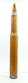 USN US Navy houten oefenpatroon 3 inch gun van 1944 - 89 x 9 x 11 cm - zeldzaam - topstaat! - origineel
