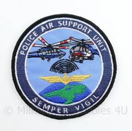 Police Air Support Unit Semper Vigil embleem - met klittenband  - 9 cm. diameter