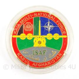 KLu Luchtmacht Coin Kaia Multinational Force ISAF Kabul Afghanistan - doorsnede 6 cm - origineel