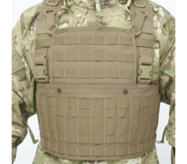 Nederlandse leger en Korps Mariniers  Warrior Assault Systems chest rig - gedragen - Coyote - origineel