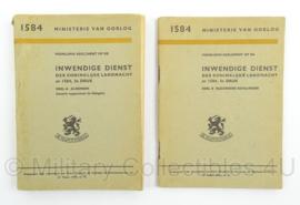 Voorlopig Reglement op den Inwendigen Dienst 1946! Deel A en B 1584 - afmeting 13 x 18 cm - origineel