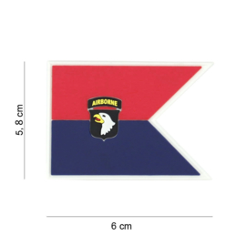 Embleem 3D PVC - met klittenband - 101st Airborne Div. - 6 x 5,8 cm.