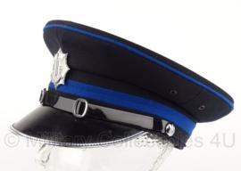 Gemeentepolitie platte pet officier - 56 of 58,5 cm.  - origineel