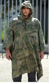 Poncho / zeil R/S MIL-TACS FG Forest Green camo