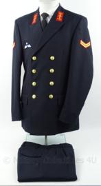 KM Marine Korps Adelborsten uniform jas en broek met parawing - Korporaal-Adelborst - maat 51 3/4 - origineel