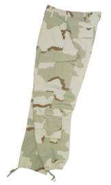 Desert camo trouser - 50/50 Cotton Poly =Medium-Long - origineel US Army en Korps Mariniers