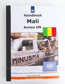 """Handboek KL """"handboek Mali annex UN Maart 2016 - origineel"""