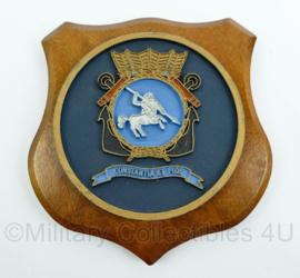 """Koninklijke Marine wandbord - School voor de Eerste Maritiem Militaire Vorming - """"Constantia et Fide"""" - afmeting 15 x 15,5 x 1,5 cm - origineel"""