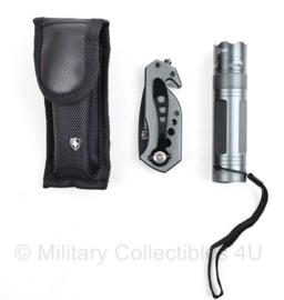 Swiss Peak Safety set felle zaklamp en zakmes - met veel functies - in draagtas - nieuw ! - 11 x 2,5 cm - origineel
