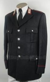 Zwarte Italiaans Carabinieri politie uniform jas - Maat 62 = 3XL (126 cm. borstomtrek) - origineel