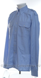 KLU luchtmacht DT overhemd lichtblauw LANGE mouw gebruikt - origineel