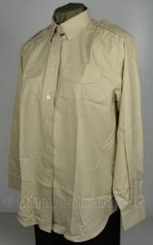 Dames blouse khaki - lange mouw - dames maat 32 tm. 37 - origineel