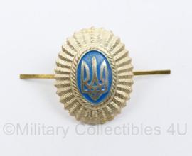 Oekraïense leger officiers pet insigne  - 4 x 3 cm - origineel