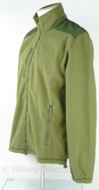 Leger Fleece jack Fleece windstopper model Noorse col - extra dik - GROEN - Medium of Large - NIEUW in verpakking   - origineel