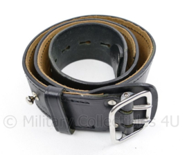 KMAR Marechaussee zwart lederen koppel - 72cm - nieuw - origineel