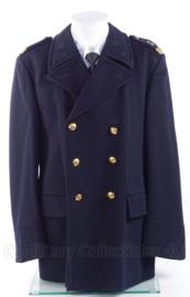 """Korps Rijkspolitie te water uniform mantel met insignes - rang """"hoofdagent"""" - zeldzaam  - maat 54 - origineel"""