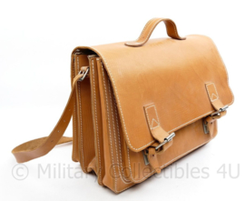 Lederen schooltas schoudertas met draagriem Lederen boekentas - De roos Lederwaren - 30 x 40 x 17 cm -  origineel