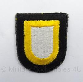 US Army 101st Airborne Division Cap patch - Vietnam oorlog en net naoorlogs - afmeting 5 x 6 cm - origineel