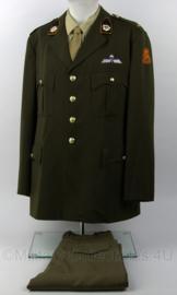KL DT set jasje met emblemen en broek - met Parawing en Kraagspiegel Van Heutsz - maat 58 - origineel