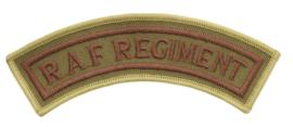 Royal Air Force Regiment (R.A.F. REGIMENT) Cloth Shoulder Title - 12 x 3 cm. - origineel