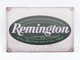 Metalen plaat Remington Firearms - 30 x 20 cm.