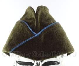 Overseas cap Garrison cap - blauwe bies - 57 cm.  -  wollig class a model