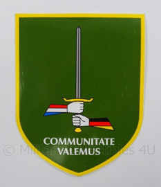 Nederlands Duitse Korps voertuig sticker - Communitate Valumus - afmeting 10 x 13 cm - origineel
