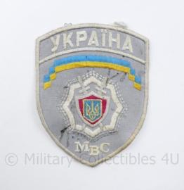 Oekraïense  Politie embleem Ukraina MBC Ukraine Ykpaiha MBC - 12,5 x 9,5 cm - origineel