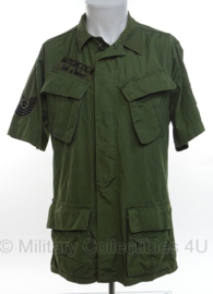 "USAF US Air Force Jungle Fatique jas tropical combat - Master Sergeant ""Hitchcock""- 2nd pattern jacket - vietnam oorlog - maat Medium-Short - origineel"