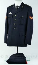 Korps Mariniers Barathea Uniform jas+broek 1975 met parawing Rang Korporaal- Maat 48 - Origineel