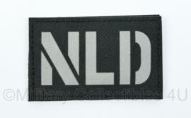 Nederlandse Leger NLD embleem infrarood patch met klittenband zwart - afmeting 5 x 8 cm - nieuw gemaakt