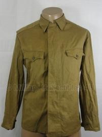 Russische uniform jas- enkel model - met reparatie - maat 50