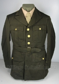 US officer chocolate class A - Uniforms, Service, Officer OD -  1942 - met riem - size 36 S - origineel