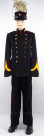 Antieke Nederlandse leger Kanonnier Artillerie uniform SET jas, broek en kepi - juli 1932 -  met originele insignes - maat 48 - origineel