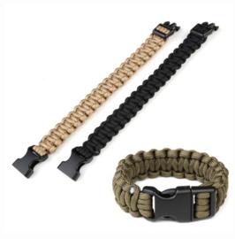 Paracord armband - 7 inch - keuze uit zwart of coyote