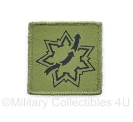 Defensie eenheid borst embleem DCPL Dienstencentrum Personeelslogistiek - met klittenband - 5,5 x 5 cm - origineel