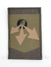 KL Logistiek commando GVT eenheid arm embleem met klittenband - 3e model - 8.5 x 5 cm -  origineel