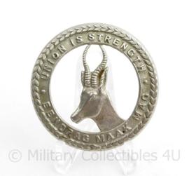 1st South Afrikan Infantery Regiment pet insigne - diameter 5 cm - origineel