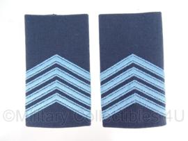 KLu luchtmacht epauletten - rang Sergeant-Majoor - origineel