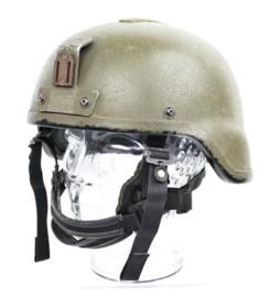 Korps Mariniers en Defensie kogelwerende Rabintex NIJ3 helm met camo en nachtkijker beugel - maat Medium - gedragen  - origineel