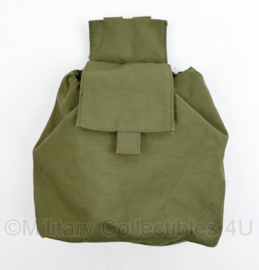 Defensie en Korps Mariniers droppouch groen  - licht gebruikt - 27 x 19 x 8 cm - origineel