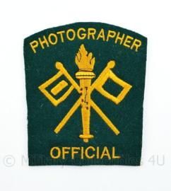 WO2 US Army Official Photographer embleem 8,4 x 9,7 cm.