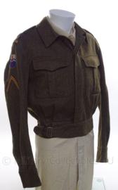"""MVO uniform jas """"2de genie troepen/pontonniers"""" - rang """"Sergeant/Wachtmeester"""" - maat 51 - origineel"""