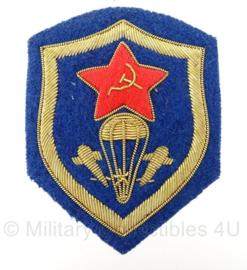 Russische leger USSR Airborne VDV Paratrooper arm embleem - Embroidered luve versie metaaldraad - 8,5 x 6,5 cm - origineel
