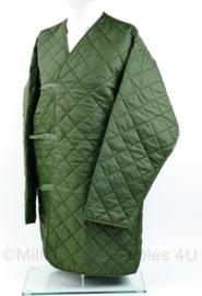 Britse man's parka liner - groen - maat lengte 180cm / borstomtrek 112cm - gedragen - origineel