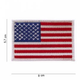 Uniform landsvlag USA - witte rand - Middel - 9 x 6 cm.