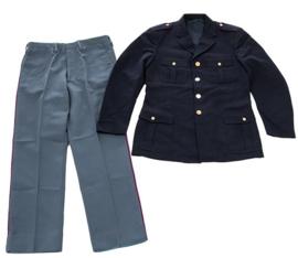 Donkerblauwe Italiaans politie uniform jas MET broek met bies Polizia di Stato- meerdere maten - origineel