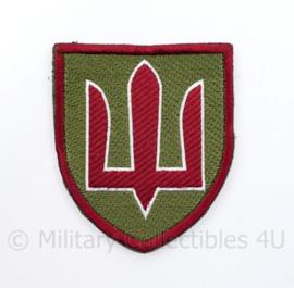 Ukrainian Army patch emblem Flag Cossack Sables Red on Green - met klittenband  - 8,5 x 7 cm - origineel